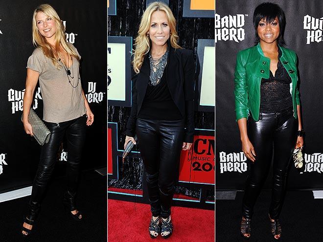 Dress Over Pants Dress up Black Leather Pants
